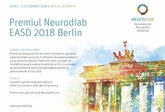 Societatea de Neuropatie Diabetica premiaza tinerii medici  cu activitate in domeniul neuropatiei diabetice