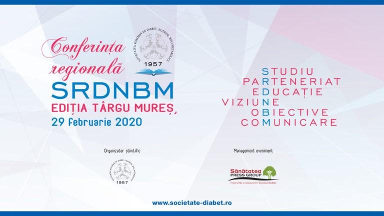 Conferința regională a Societății Române de Diabet, Nutriție și Boli Metabolice – Ediția Târgu Mureș, 2020
