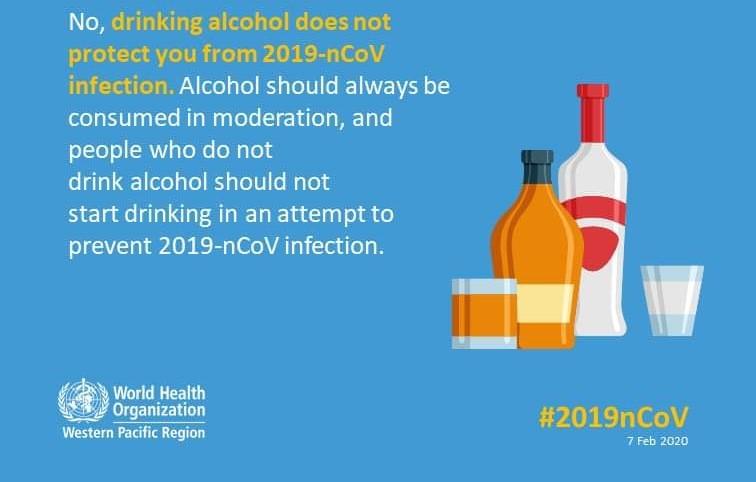 OMS: Consumul de alcool nu ține la distanță coronavirusul