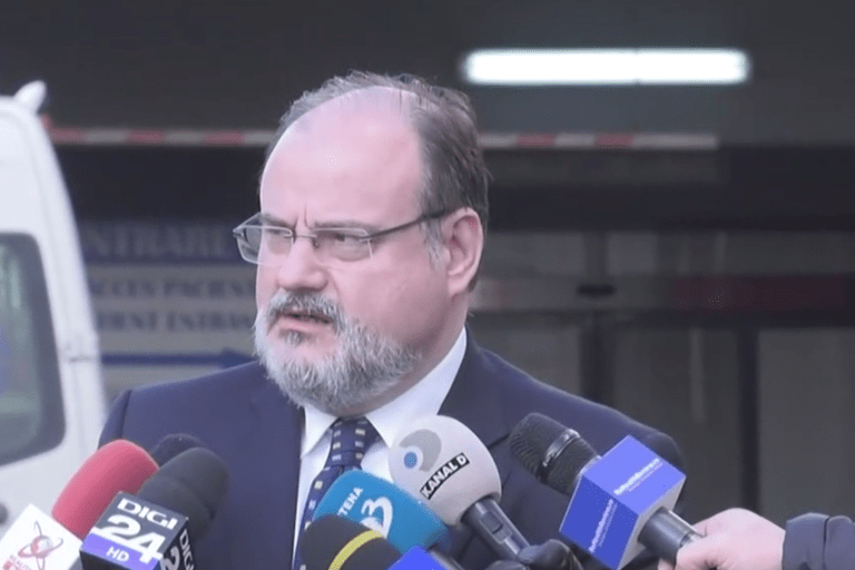 Secretarul de stat Horatiu Moldovan a facut declaratii de presa la Spitalul Clinic de Urgenta Bucuresti