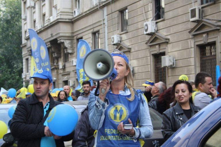 """Proteste ale Federației """"Solidaritatea Sanitară"""",organizate în toată țara"""
