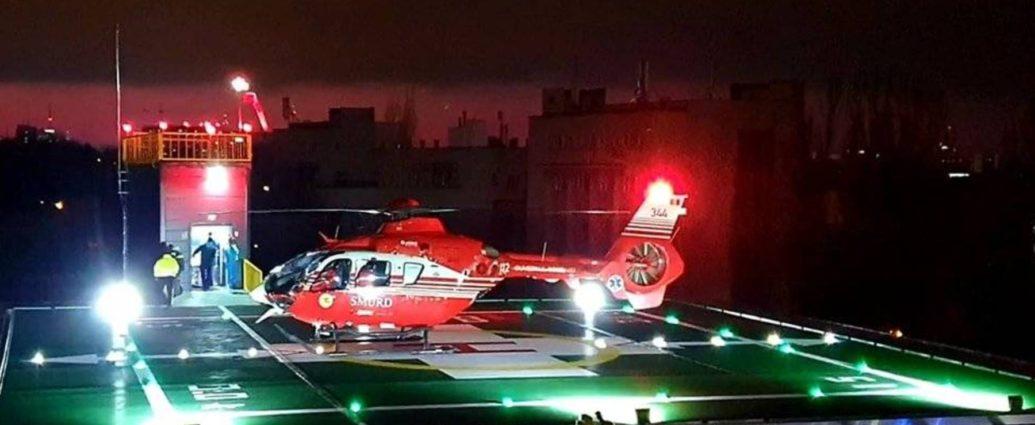 Șase transferuri, dintre care doua pe timp de noapte, intr-o singura zi, la heliportul Spitalului Universitar 1