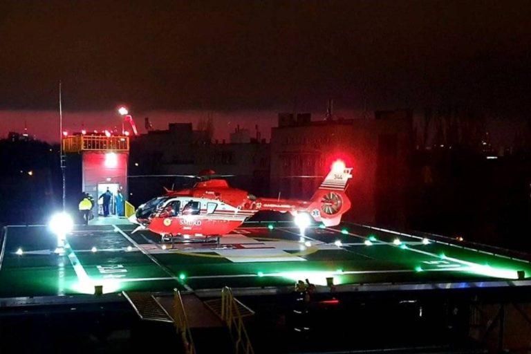 Șase transferuri, dintre care doua pe timp de noapte, intr-o singura zi, la heliportul Spitalului Universitar