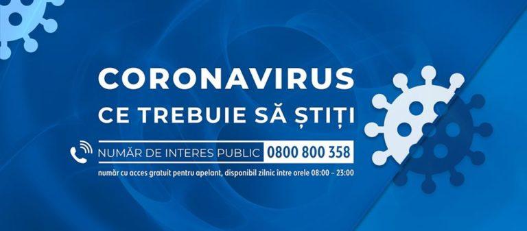 Un bărbat din Galați, al 13-lea caz confirmat de infectare cu noul coronavirus