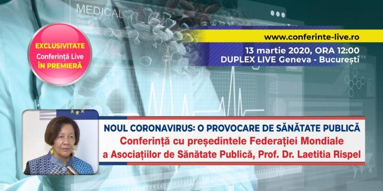 VIDEO Conferință prof.dr.Laetitia Rispel, președintele Federației Mondiale a Asociațiilor de Sănătate Publică