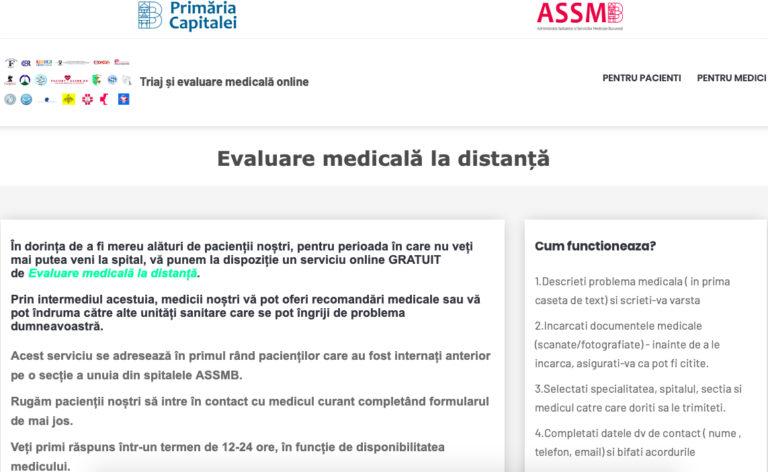 ASSMB: Platforma de telemedicină permite interacțiunea prin apel telefonic video sau clasic între medic și pacient