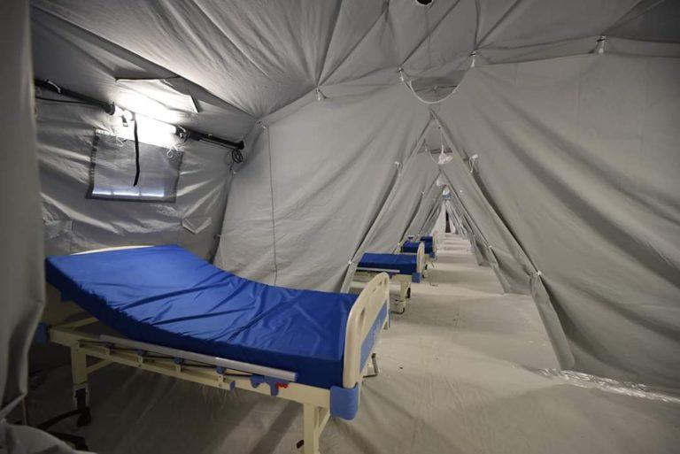 Spitalul modular instalat de Ministerul Apărării la Timișoara va avea 56 de paturi