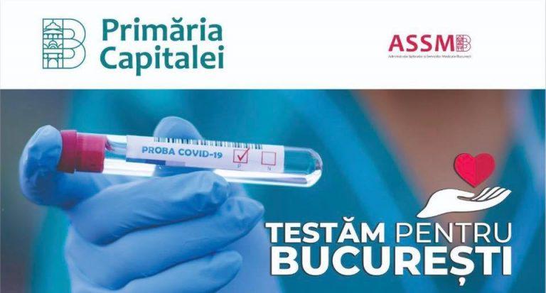 PMB lansează vineri campania de testare pentru depistarea infecției cu noul coronavirus