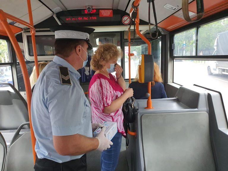 Campanie a Poliției Locale București pentru prevenirea răspândirii COVID-19 în transportul în comun
