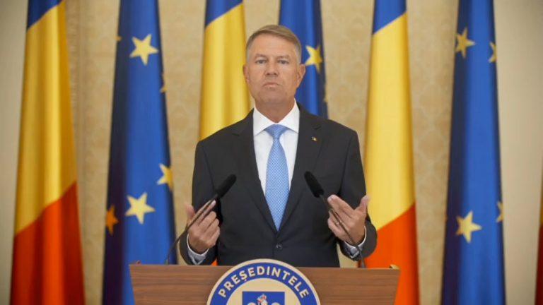 Iohannis: Studiile sociologice arată că 90% dintre români respectă normele,poartă mască, păstrează distanța