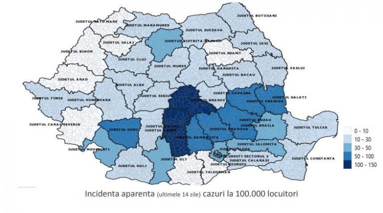 Raportul săptămânal de supraveghere a COVID-19 în România