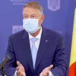 Klaus Iohannis: Dragi români, purtaţi mască, păstraţi distanţa ca să scăpăm de epidemie