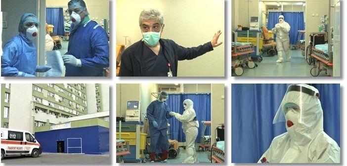 Asistente, infirmiere şi pacienţi cu COVID-19, la Clinica de Chirurgie Vasculară a SJ Timişoara