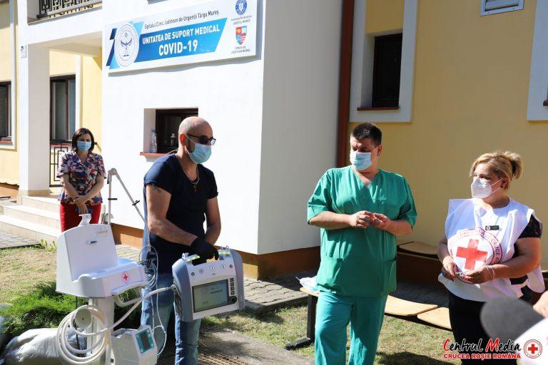 Crucea Roșie a donat un aparat mobil de ventilație pulmonară Unității suport COVID din Târgu Mureș