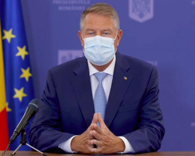Klaus Iohannis: Suntem departe de o incidență a cazurilor care să permită o relaxare a restricțiilor