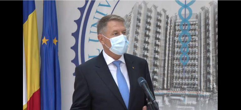 VIDEO Iohannis promite primele doze de vaccin la începutul lui 2021: Cred că asta este o veste foarte bună