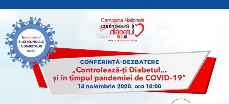 SRDNBM marchează Ziua Mondială a Diabetului 2020 printr-o conferință-dezbatere online