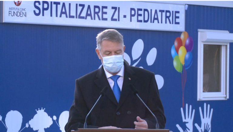 VIDEO Klaus Iohannis: Presiunea pe secţiile de ATI se menţine la cote foarte ridicate