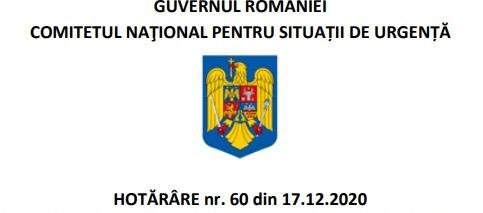 Comitetul Național pentru Situații de Urgență a adoptat o nouă Hotărâre