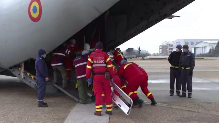 Pacient cu arsuri, transportat de urgenţă, la Munchen, cu o aeronavă Spartan a MApN