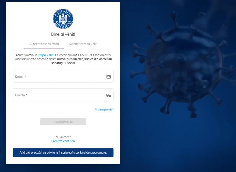 Platforma pentru programare la vaccinare anti-COVID-19, blocată aproape două ore