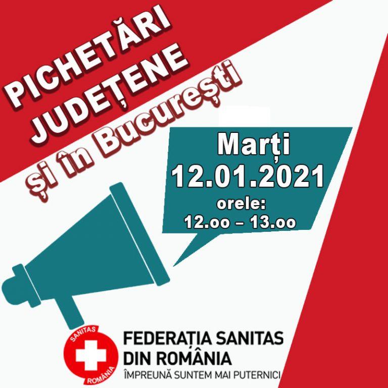 Federația Sanitas din România prostează mâine pentru revendicarea unor drepturi