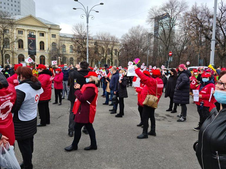 Protest anunțat, vineri, de Federația Sanitas, în fața Ministerului Sănătății și Ministerului Muncii