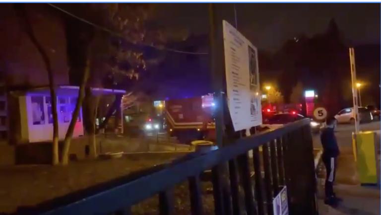VIDEO Degajare de fum la Institutul Marius Nasta, în exteriorul unității mobile ATI