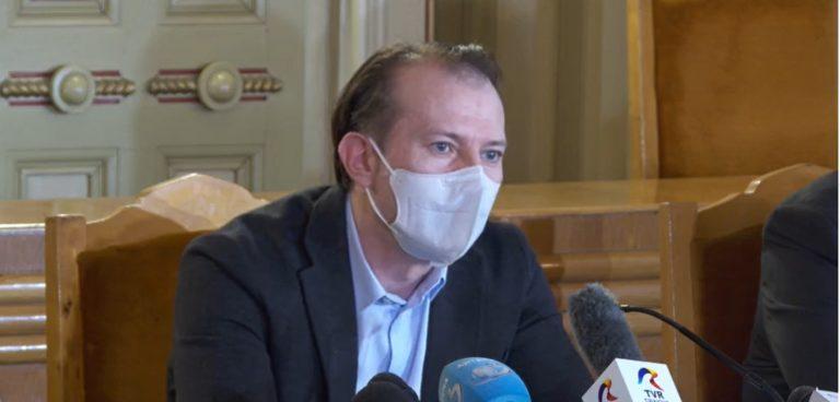 Premierul Florin Cîţu: Nu ar trebui să avem discuţii despre valul patru al pandemiei