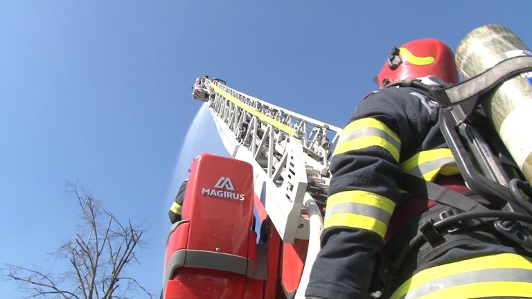 Exercițiu de simulare de incendiu la Spitalul de Boli Infecțioase din Timișoara