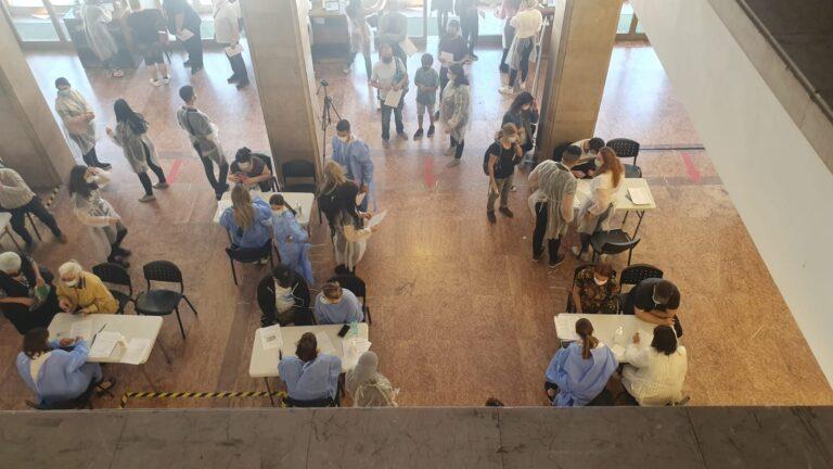 Maratonul Vaccinării: 9.082 persoane imunizate la Sala Palatului și 5.220 la Biblioteca Națională
