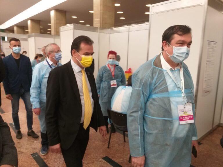Președintele Camerei Deputaților, Ludovic Orban, a vizitat centrul de vaccinare de la Sala Palatului