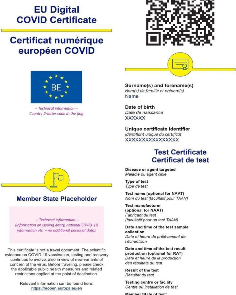 Coronavirus: Certificatul digital european pentru COVID-19 a intrat în vigoare