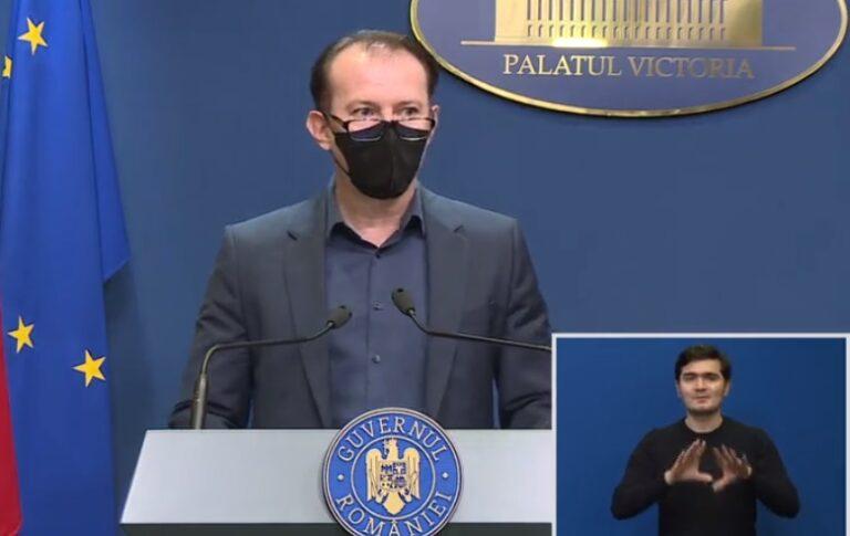 Cîțu, despre valul 4 al pandemiei: Vom lua cele mai bune soluţii, în funcţie de situaţia epidemiologică