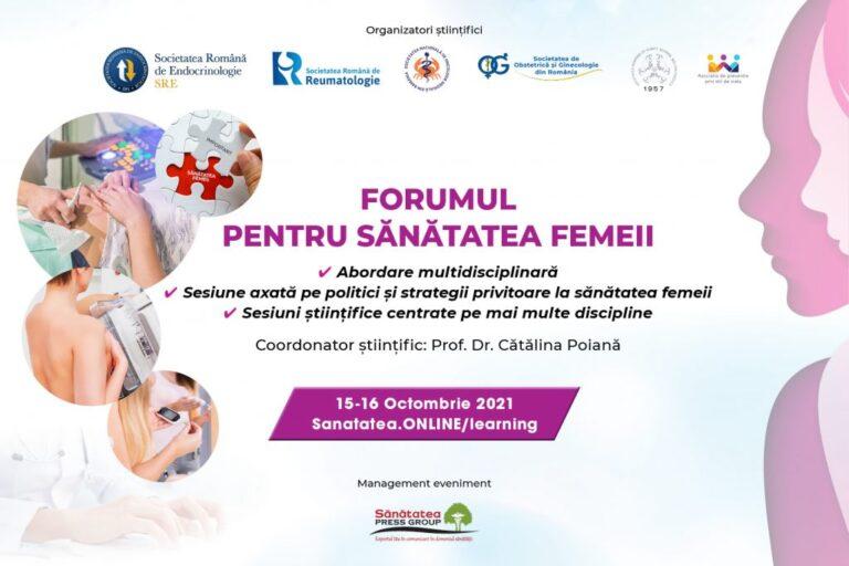 Forumul pentru Sănătatea Femeii: Interes crescut pentru sănătatea femeii, privită în ansamblul său